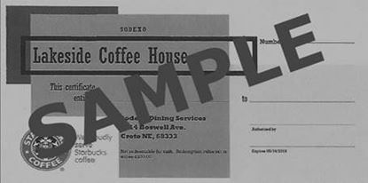 Picture of $10 Lakeside Coffee Shop Gift Certificate